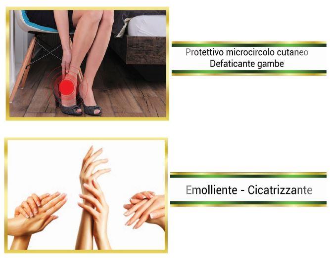 protettivo microcircolo cutaneo defaticante gambe